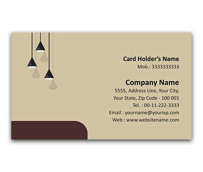 Flexi Business Card Design for Interior Designers Offset