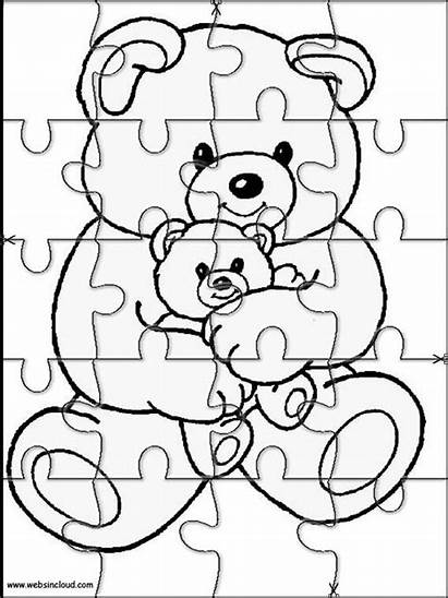 Puzzles Puzzle Printable Jigsaw Coloring Cut Animals