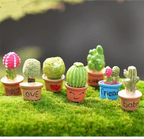 cute  designs cactus flower pot fairy garden miniatures