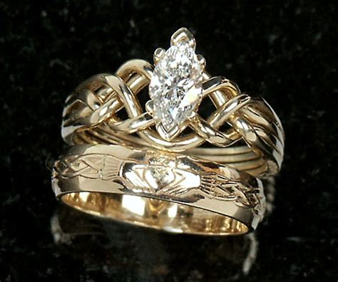 celtic wedding ring sets product detail celtic engagement rings marquise puzzle claddagh wedding set