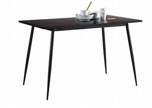 Table De Cuisine Rectangulaire : table de cuisine niko noir ~ Teatrodelosmanantiales.com Idées de Décoration