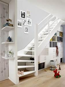 Meuble Tv Accroché Au Mur : meuble tv accroche au mur 11 am233nager lespace sous un escalier viving kirafes ~ Preciouscoupons.com Idées de Décoration