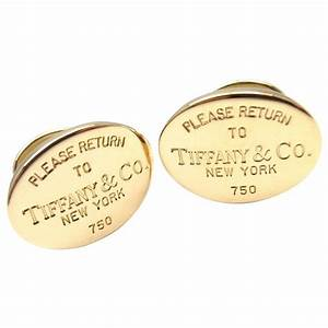 Tiffany And Co Return To Tiffany Gold Cufflinks At 1stdibs