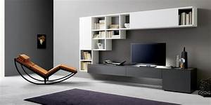 Tv Unit And Bookcase  Sangiacomo Italy - Modern