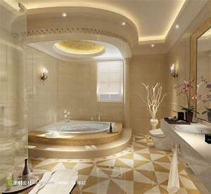 欧式精美卫生间浴室装修效果图 素材公社 tooopen com