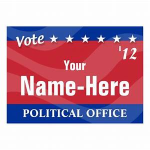 Vote political campaign large business cards pack of for Campaign business cards