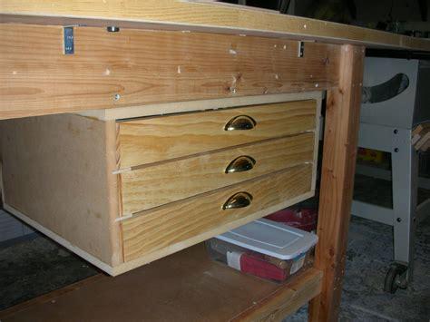 By Davelehardt @ Lumberjocks.com Drawer Railing Bq Drawers Cot Bed With Valen Undercounter Parsons Desk White Finish Media Chest Of Casters