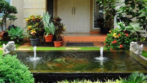 desain taman minimalis  kolam ikan hias
