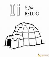 Igloo Coloring Letter Preschool Sheet Eskimo Template Preschoolers Inuit sketch template