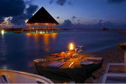 Romantic Dinner Sea Night Beaches 1280