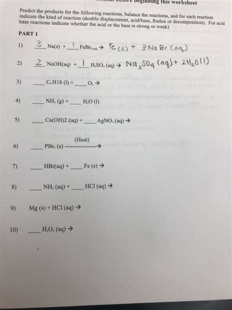 solved delore deginhing this worksheet predict the produc
