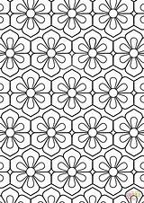 Coloring Pattern Flower Pages Abstract Printable Colouring Colour Fun Sheets Adult Supercoloring Adults Cool Paper Dot Drawing Categories sketch template