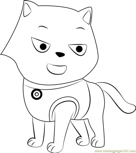 Cat Marshall Coloring Page Free PAW Patrol Coloring
