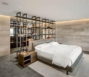 Modern, Bedroom, Shelves, That, Really, Bring, The, Room, Together