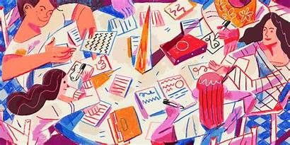Illustration Suck Brand Meetings Typing Several Newscred