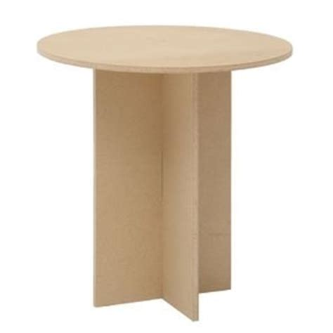 30 inch round particle board table buy particle board round standard display table 30 quot h in