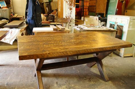 table cuisine table de cuisine 100 vieux bois n 1003 le géant antique