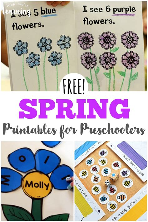 free printables for preschoolers look we re 240 | Work on essential early childhood skills with these free spring printables for preschoolers