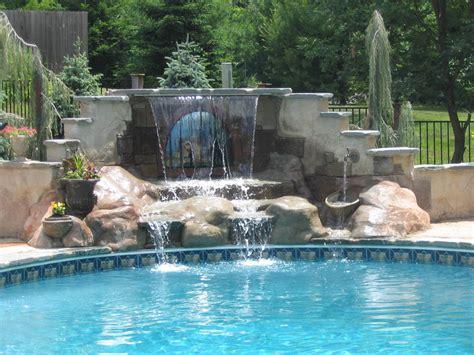 swimming pool waterfalls pictures 22 new swimming pools with waterfalls pixelmari com