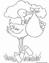 Printable Boy Stork Coloring Pages Bundle Childrens Shower Boys Template Kleurplaten Carrying Diaper Kleurplaat Fastseoguru Geboorte Thema Ooievaar Van Digi sketch template