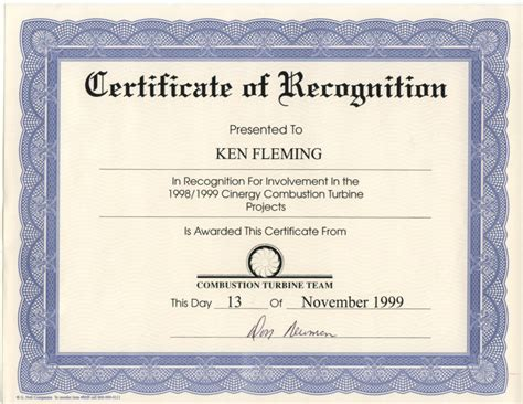 Certificate Of Recognition Template 8 Best Images Of Recognition Award Certificate Templates