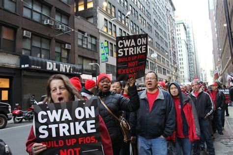 industriall solidarity striking verizon workers