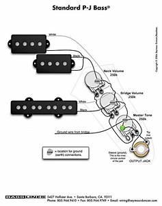 Bass Guitar Wiring Diagram 2 Pickups