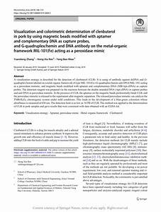 Visualization And Colorimetric Determination Of Clenbuterol In Pork By Using Magnetic Beads