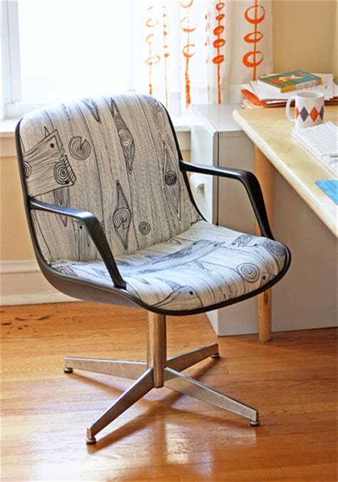 reupholstered steelcase chair project how about orange