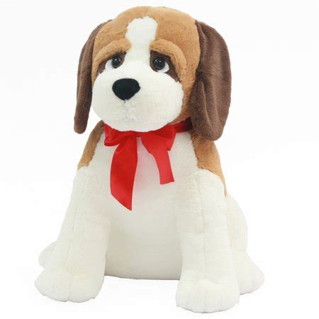 valentine stuffed  large puppy precious sitting st