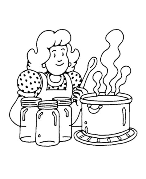 kitchen coloring page coloring home