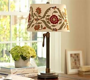 suzani embroidered tapered drum lamp shade pottery barn With drum lamp shades lighten up your day