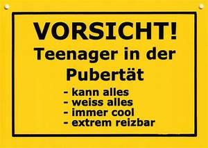 Bettwäsche Teenager Pubertät : kunststoff postkarte spr che humor verbotene schilder vorsicht teenager in der pubert t ~ Frokenaadalensverden.com Haus und Dekorationen