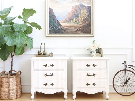 white shabby chic nightstands shabby chic vintage thomasville white nightstands side tables end shopgoldenpineapple
