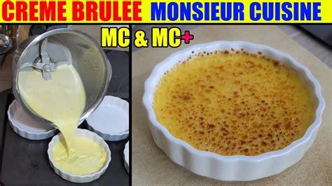 monsieur cuisine creme brulee recette monsieur cuisine plus lidl