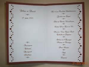 exemple de menu de mariage menu mariage bordeau la carterie de céline
