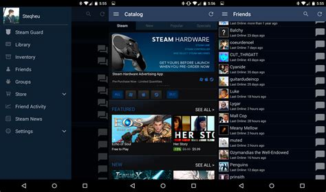 steam se actualiza a material design