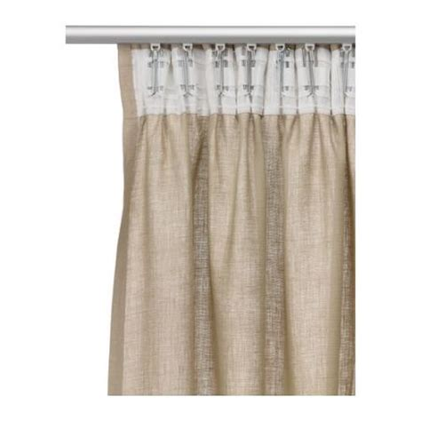 brand new ikea aina window curtains 57x98 drape 2 panels