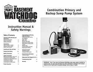 Basement Watchdog Combo User Manual