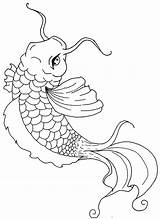 Fish Coloring Koi Pages Drawing Chinese Painting Colouring Fucks Given Zero Adult Sheets Truck Easy Semi Getdrawings Viatico sketch template