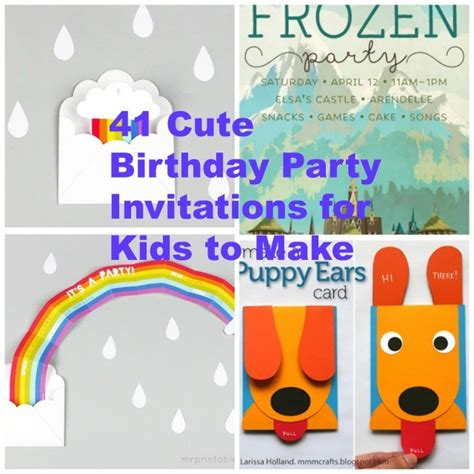 Kitchen Restoration Ideas - 41 printable birthday party cards invitations for kids to make