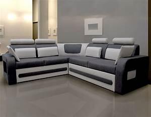 canap d39angle convertible tissu gris avec coffre aglibo 2 With tapis moderne avec canape d angle gris en cuir