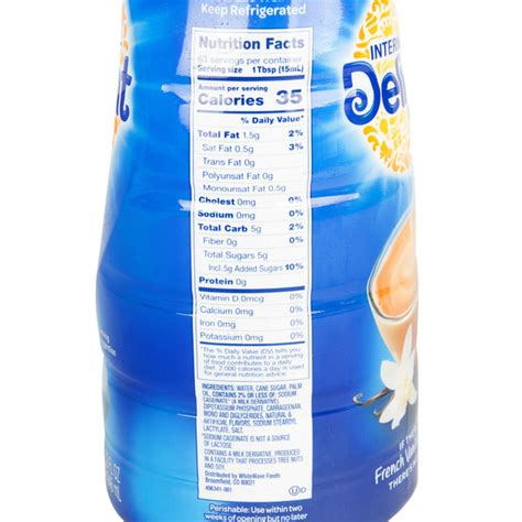 How many calories are in coffee creamer? International Delight 32 oz. French Vanilla Coffee Creamer - 12/Case