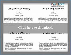 free obituary templates lovetoknow With fake obituary template