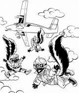Skydiver Coloring Template Skunks Fuller Rocky Skydiving Pages Hidden Popular sketch template
