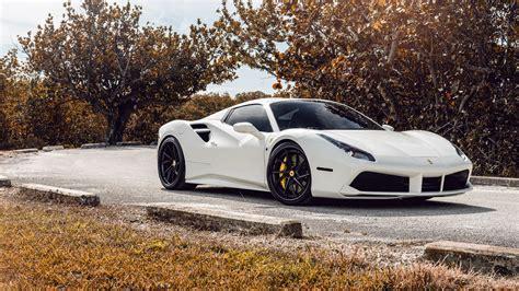 Ag White Ferrari 488 5k Wallpaper Hd Car Wallpapers Id