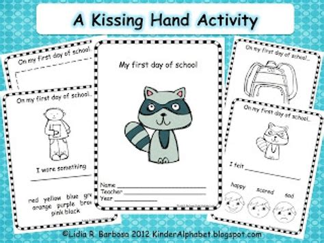 kissing hand  activity booklet teach junkie