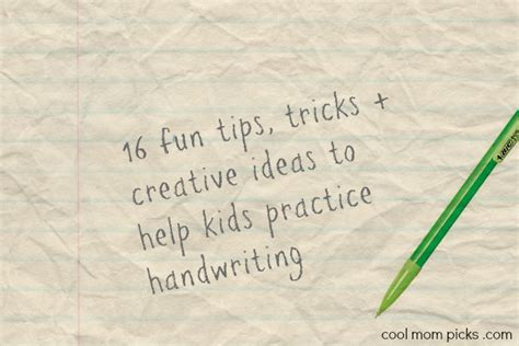 16 Tips + Ideas For Handwriting Practice Cool Mom Picks