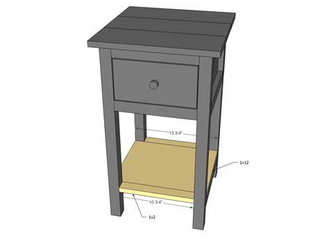 printable plans  build  diy nightstand  bun