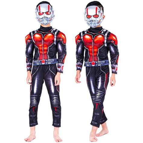 Hot Movie Ant Man Muscle Costume Child Boys Ant Man